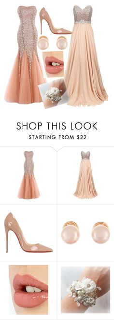 """""""Libby and Katie prom"""" by libbyweitkamp ❤ liked on Polyvore featuring Jovani, Christian Louboutin, Kenneth Jay Lane and Charlotte Tilbury"""