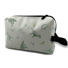 c3a4e9e40f2d Jingclor Travel Case Cosmetic Storage Bags Cool Dinosaurs Makeup Clutch  Pouch Zipper Wallet Pencil Holder