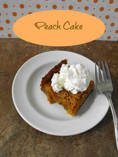 Peach Cake frugalanticsrecipes.com