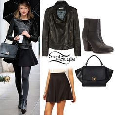 Taylor Swift wearing all black everything trend, head to toe http://fashionilluminati.com/taylor-swift-style-get-look/