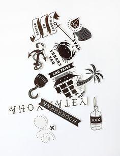 FREE Printable Temporary Pirate Tattoos