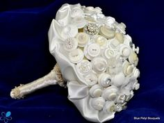 White Button Bouquet - Wedding Accessories by Blue Petyl - Loverly