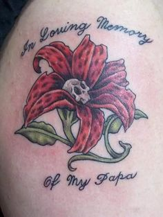 """""""In loving memories of Dad"""" another lovely and great memorial styled tattoo"""