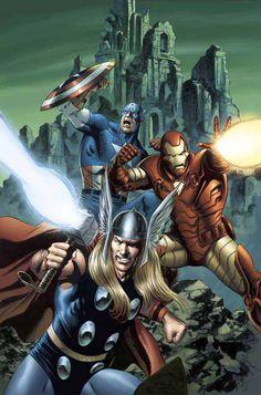 Cap, Thor, Ironman