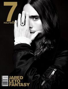 Jared Leto on the cover of Hollywood magazine. He wears an All-Seeing Eye ring so you fully understand why he is always hiding one eye.