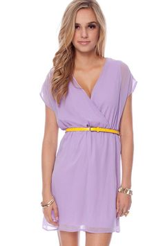 One Over Belted Dress in Lavender.  The color is great and the neckline is so flattering.  Perfect for summer!