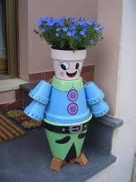 originele ideeen met oude bloempotten voor in de tuin - Google zoeken