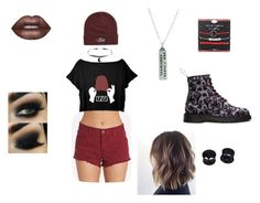 """""""Twenty One Pilots outfit"""" by mylifeinsilentwonderland ❤ liked on Polyvore featuring Billabong, Vans, Dr. Martens, Lime Crime and NOVICA"""