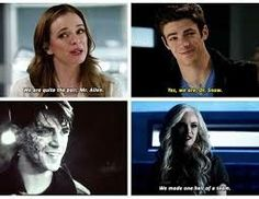 Just some regular Snowbarry pictures for your amusement. (Some pictures may be blurry) I was bored and had a lot of Snowbarry pictures that I didn't want. Superhero Shows, Superhero Memes, The Cw Shows, Dc Tv Shows, Supergirl Dc, Supergirl And Flash, Dc Tv Series, Barry And Caitlin, Flash Funny