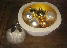 Design Deko BETON-Schale * Gold *