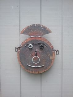 Scrap Metal Art, Metal Wall Art, Yard Sculptures, Recycle Art, Metal Garden Art, Junk Art, Welding Art, Face Art, Metals