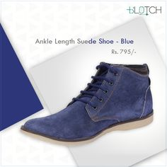 Blue Suede Shoes - an absolute must have!  #MenFashion #Trends #SummerFashion #NormCore #Shoes #FashionForMen