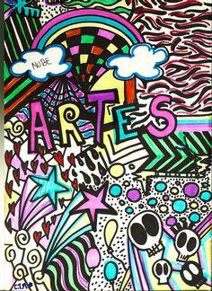 portada de mi bitacora de artes plásticas en el colegio