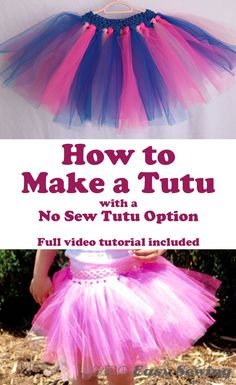 How to Make a Tutu with a No Sew Tutu Option - Full video tutorial included! | Easy Sewing For Beginners