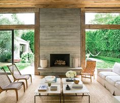 Jenni Kayne purchased reclaimed wood from a barn in Pennsylvania to warm up her LA house.