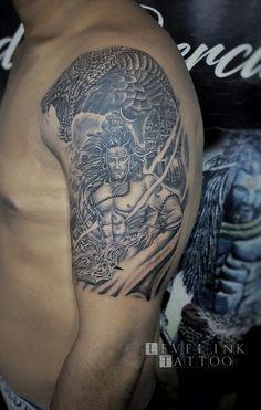 Shiva tattoo done by Billu at level ink tattoos in cp palika bazar God Tattoos, Eagle Tattoos, Shiva Angry, Christ Tattoo, Ganesha Tattoo, Sleeve Tattoos, Jesus Christ, Tattoo Ideas, Arm
