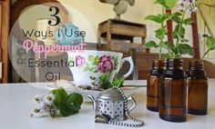 peppermint essential oil for blog and pinterest