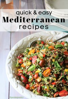 Lean proteins, healthy fats and plenty of fruits and vegetables are the basis of the Mediterranean diet. With a few helpful tips, you'll be making easy Mediterranean recipes in no time. #mediterraneandietrecipes #mediterraneanrecipes #easymediterraneanrecipes #pookspantry Vegetable Dishes, Vegetable Recipes, Vegetarian Recipes, Healthy Recipes, Healthy Fats, Lamb Recipes, Free Recipes, Chicken Recipes, Easy Mediterranean Diet Recipes