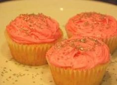 Strawberry Champagne Cupcakes (No actual berries, just the booze)
