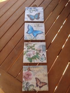 Xanela Vintage Decoupage Art, Decoupage Vintage, Wood Crafts, Diy And Crafts, Paper Crafts, Shabby, Mirrored Picture Frames, Mod Podge Crafts, Diy Y Manualidades