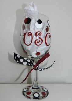 University of South Carolina Wine Glass by dottindivas on Etsy.