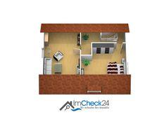Grundriss des ausgebauten Dachgeschosses.