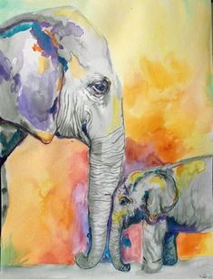 Are you a beginner and want some good idea for painting with watercolor? Here we have some Easy Watercolor Paintings For Beginners Watercolor Paintings For Beginners, Beginner Painting, Easy Watercolor, Watercolor Animals, Elephant Watercolor, Watercolour On Canvas, Watercolor Projects, Watercolor Paintings Abstract, Tattoo Watercolor