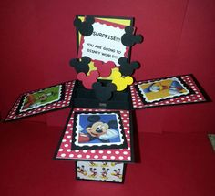 Are you looking to surprise a special someone with a Disneyland or Disney World vacation?? This card springs in to life revealing your surprise