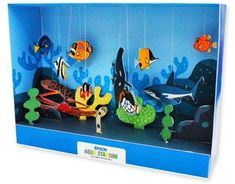 marine biome out of a shoebox | Children will have fun assembling this beautiful and colorful Aquarium ...