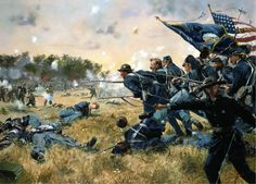 The First Minnesota by Don Troiani Part of the Union II Corps defending Cemetery Ridge from Confederate assault, the 1st Minnesota charges with fixed bayonets during the second day of Gettysburg. Taking grievous casualties, their action nevertheless bought vital time for the rest of the Corps to reform and reinforce their lines and stave off the Confederate onslaught.
