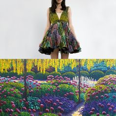 Stolen Girlfriends Club is making Karl Maughan's lush, surreal landscape paintings into gorgeous dresses (which are on sale right now! New Zealand Art, Color Patterns, Landscape Paintings, Personal Style, Strapless Dress, Colour, Summer Dresses, Flower, Street