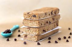 chockohlawtay: Chocolate Chip Cookie Dough Protein Bars