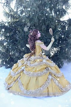 "Beauty and the Beast Wedding Dress - Couture Belle Dress Corset Faitytale Gown - Disney Wedding "" Belle Gown "" - Custom Petite to Plus"