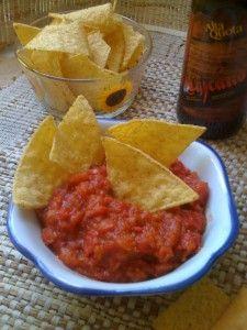 salsa messicana per nachos e tacos ricetta Brunch Recipes, Snack Recipes, Cooking Recipes, Polenta, Pesto Hummus, A Food, Food And Drink, Mousse, Mexican Salsa