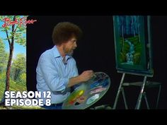 Bob Ross shares with us a truly unique 'frame' idea as he creates a fantastic river with rapids on black canvas. Season 12 of The Joy of Painting with Bob Ro. Bob Ross Painting Videos, Bob Ross Paintings, Happy Paintings, Acrylic Painting Techniques, Painting Lessons, Art Lessons, How To Draw Painting, The Joy Of Painting, Bob Ross Episodes