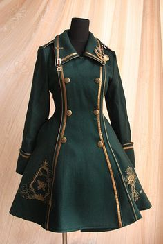 Pin on ロリータファッション Steampunk Clothing, Steampunk Fashion, Steampunk Coat, Steampunk Glasses, Old Fashion Dresses, Fashion Outfits, Dress Fashion, Mode Lolita, Lolita Style