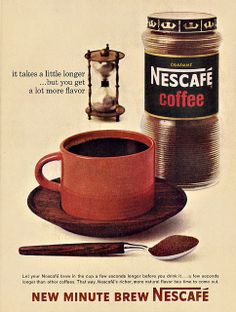 Nescafe Instant Coffee Ad, 1963