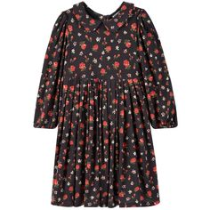 Modal and elastane jersey Jersey lining Peter Pan collar Long sleeves Buttons in the back Fancy buttons Flower print - $ 278