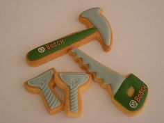 Tool cookies with names Mother's Day Cookies, Best Sugar Cookies, Iced Cookies, Cut Out Cookies, Construction Cookies, Cooking Cookies, Tool Cake, Cookie Recipes, Cookie Ideas