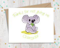 5 x 7 Chlamydia Koala  Funny Valentine's by FourLetterWordCards