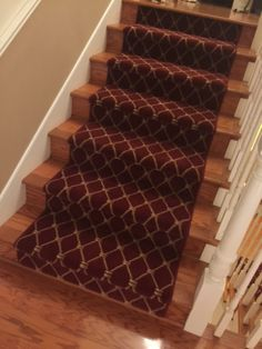 """Another happy client: """"Just wanted to let you know what a great job your installer did today on our stair runner. It looks amazing and I attached some pictures to this email for you to see. We are so happy with the end result!"""" Purchase at Hemphill's Rugs & Carpets Costa Mesa, CA"""