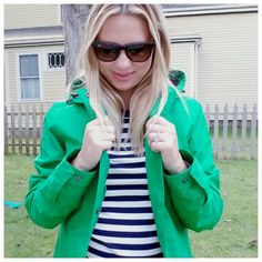 New England style / Boston fashion blogger / womens rain coat