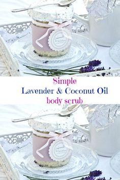Simple Lavender & Coconut Oil Body Scrub (DIY)
