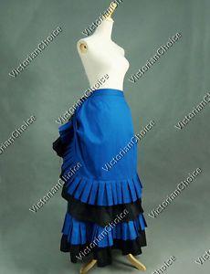 Victorian-Bustle-Walking-Skirt-Reenactment-Theatre-Clothing-Steampunk-Punk-K034