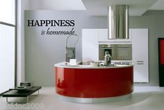 Happiness Quote Kitchen Wall Art