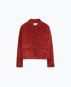 Image 8 of SUEDE JACKET from Zara