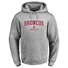 Santa Clara Broncos Proud Mascot Pullover Hoodie - Ash -