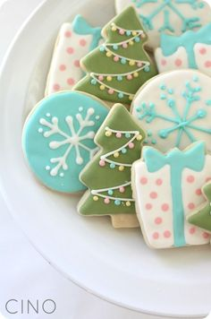 Christmas cookies for those crafty people who have a steady hand and a little icing experience!
