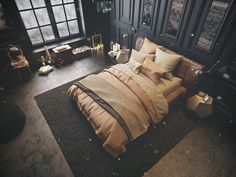 vintage-inspired-dark-bedroom vintage-inspired-dark-bedroom
