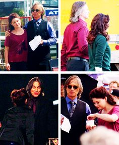 fairytaleasoldastime:  Robert Carlyle and Emilie de Ravin - Once Upon a Time Behind the Scenes Photos (2011-2014)